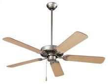 """Standard Series Ceiling Fan, 52"""" Diameter, in Brushed Steel Finish"""