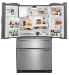 Scratch and Dent/Blemished 36-inch Wide French Door Refrigerator with External Refrigerated Drawer - 25 cu. ft.