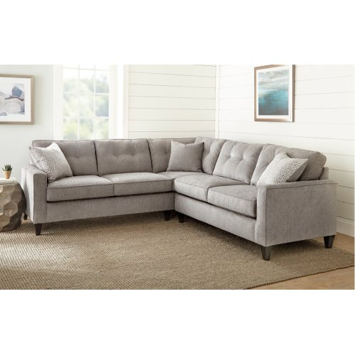 "Maddox Right Arm Sofa w/one Accent Pillow, 66""x37""x39"""