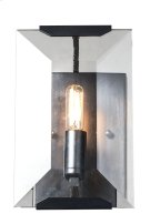 1212 Monaco Collection Wall Sconce W:6in H:10in Ext: 7in Lt:1 Flat Black (Matte) Finish Product Image