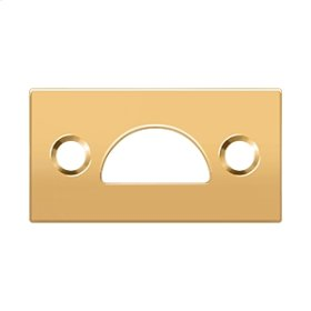 Mortise Strike, Solid Brass - PVD Polished Brass