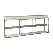 Creme Triple Console Table