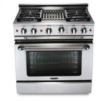 "36"" six burner NATgas manual-clean range   convection oven - LP available"