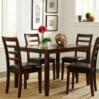5 Piece Rectangular Leg Table Set Product Image
