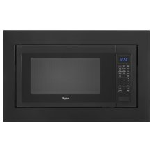 """30"""" Trim Kit for 2.2 cu. ft. Countertop Microwave Oven - Black-on-Stainless"""