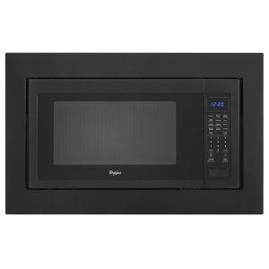 "Kitchenaid30"" Trim Kit for 2.2 cu. ft. Countertop Microwave Oven - Black-on-Stainless"