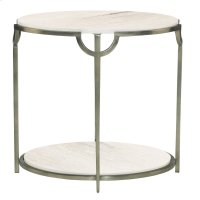 Morello Oval Metal End Table Product Image