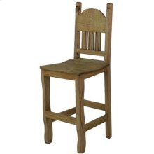 """17"""" x 43"""" x 20"""" No Star Batstool with Wooden Seat and Stone Star"""
