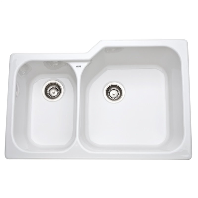 633900 in White by ROHL in Jupiter, FL - White Allia Fireclay 2 Bowl ...