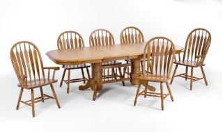 Dining - Classic Oak 42x96 Trestle Base