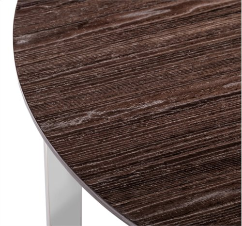 Riley Round Side Table - Smoked Grey Oak
