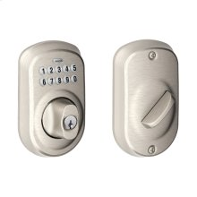 Plymouth Trim Keypad Deadbolt - Satin Nickel