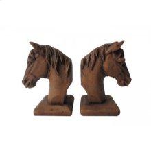 Horse Head Bookends Set