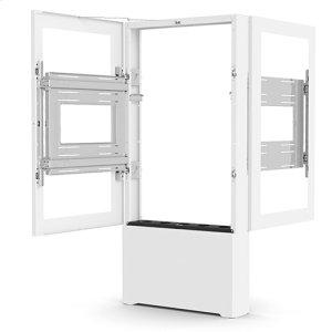"Chief ManufacturingImpact Floor Mounted Back-to-Back Kiosk, Portrait 55"" White"