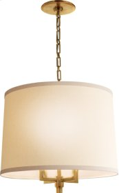Visual Comfort BBL5030SB-L Barbara Barry Westport 4 Light 24 inch Soft Brass Hanging Shade Ceiling Light