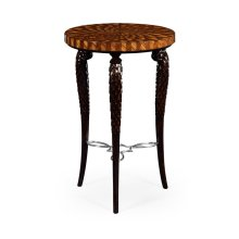 Feather Inlay End Table