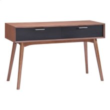 Liberty City Console Table Walnut & Blk