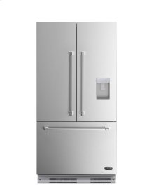 "DCS Activesmart Refrigerator 36"" Integrated French Door With Ice & Water - 72"" Tall"