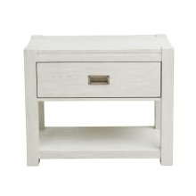 Modern Farmhouse White Nightstand