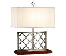Silver Gothic Trellis Table Lamp