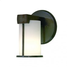 Post-Ring Sconce - WS405 White Bronze Brushed