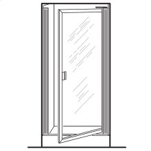 Prestige Framed Pivot Shower Doors - Silver