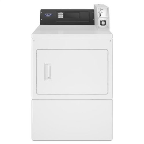 Maytag® Commercial Electric Super-Capacity Dryer, Coin Drop - White