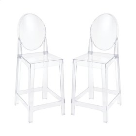 Vanish Clear Acrylic Set of 2 Counter Stools