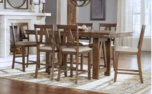 7 PC PUB SET (TABLE AND 6 BARSTOOLS)