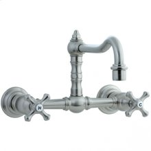 Highlands - Wall Mount Kitchen Faucet - Unlacquered Brass