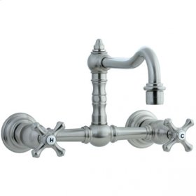 Highlands - Wall Mount Kitchen Faucet - Polished Nickel