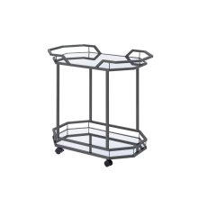 Traditional Black Nickel Serving Cart
