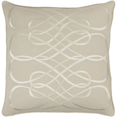 "Leah LAH-004 18"" x 18"" Pillow Shell with Down Insert"