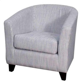 Hayden Fabric Tub Chair Black Legs, Blue Stripes