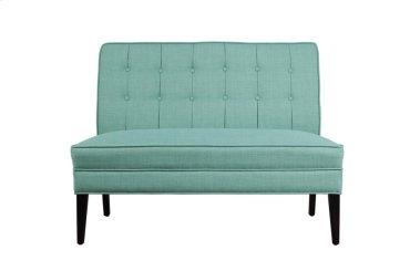 Settee Love Seat, Teal Fabric