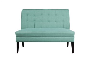 Settee Love Seat, Teal Fabric