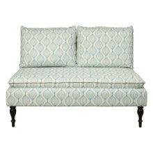 Uph 2 Pillow Back Bench - Pattern Blue