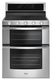 6.0 Cu. Ft. Gas Double Oven Range with EZ-2-Lift Hinged Grates
