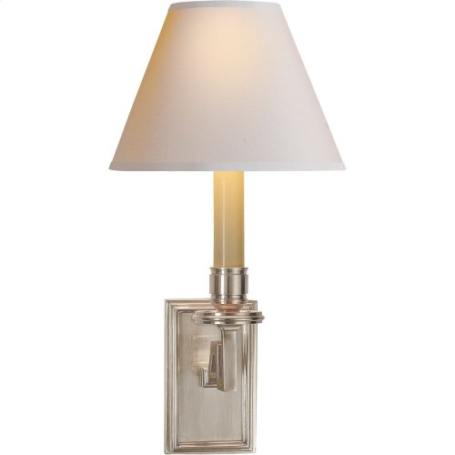 Visual Comfort AH2001BN-NP Alexa Hampton Dean 1 Light 7 inch Brushed Nickel Decorative Wall Light