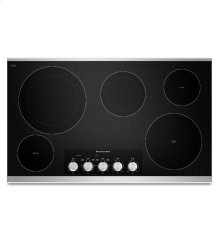 36-Inch, 5 Element Electric Cooktop with Even-Heat Technology - Stainless Steel