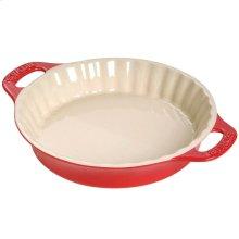 "Staub Ceramics 9"" Pie Dish, Cherry"