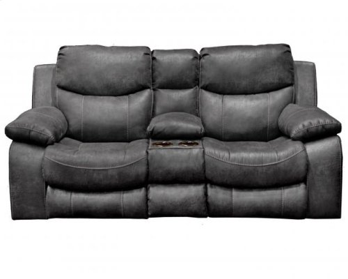 Reclining Sofa - Steel