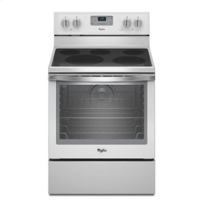 6.4 Cu. Ft. Freestanding Electric Range with AquaLift(R) Self-Cleaning Technology - WHITE ICE