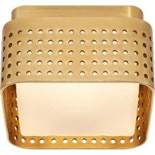Visual Comfort KW4055AB-CDG Kelly Wearstler Precision LED 5 inch Antique-Burnished Brass Flush Mount Ceiling Light in Antique Burnished Brass, Petite