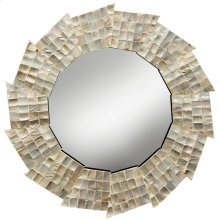 Natural Capiz Shell Mirror  32in X 35in