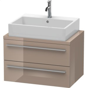 X-large Vanity Unit For Console Compact, Cappuccino High Gloss Lacquer