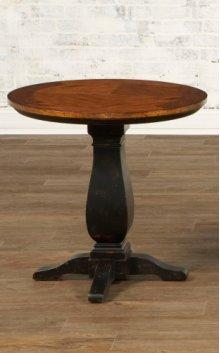 Round Pedestal End Table