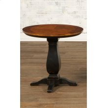 Round Pedestal End Table