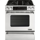 """Slide-In Dual-Fuel Range with Convection, 30"""", Pro-Style® Stainless Handle Product Image"""