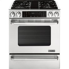 "Slide-In Dual-Fuel Range with Convection, 30"", Pro-Style® Stainless Handle"